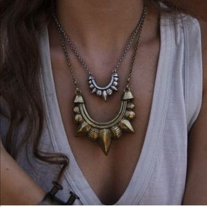 Pamela Love Small Tribal Spike necklace in silver